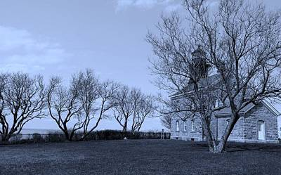 Photograph - Old Field N Y Lighthouse Cyan  by Rob Hans