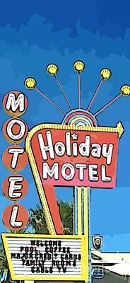 Old Fifties Vegas Hotel Sign Painting Original
