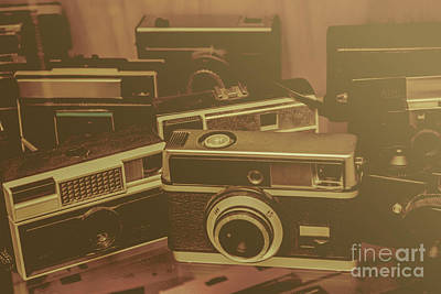Old Film Cameras Art Print