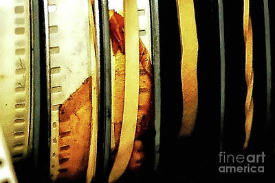Photograph - Old Film Reels by Kathleen K Parker