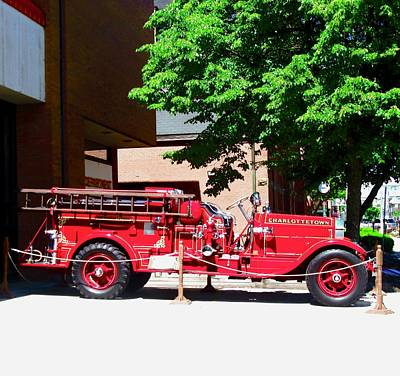 Photograph - Old Fire Truck by Stephanie Moore