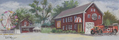 Old Firehouse Winery  Art Print by Terri  Meyer