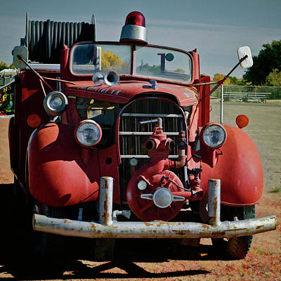 Photograph - Old Firetruck II Sq by David Gordon
