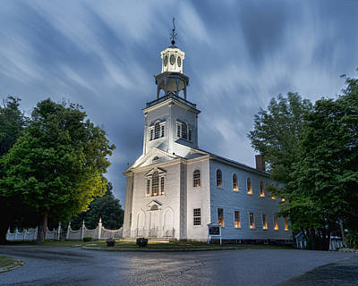 Bennington Photograph - Old First Church Of Bennington by Stephen Stookey