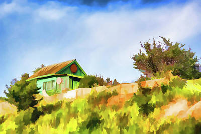 Old Fisherman's House On The Hill Art Print