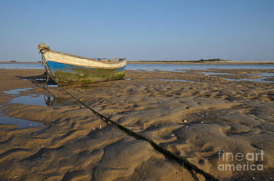 Wooden Boat Photograph - Old Fishing Boat And Low Tide by Angelo DeVal