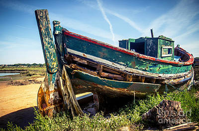 Old Fishing Boat Art Print by Carlos Caetano