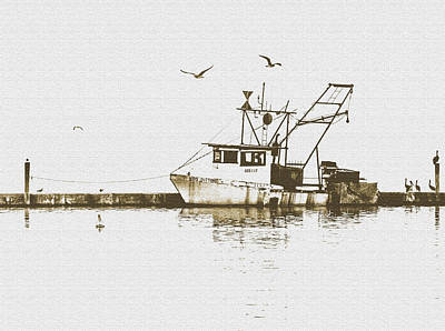 Photograph - Old Fishing Boat by Leticia Latocki
