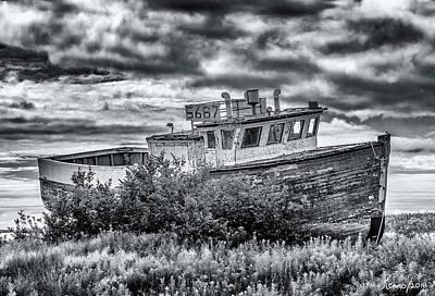 Photograph - Old Fishing Boat, Marie Joseph, Nova Scotia by Ken Morris