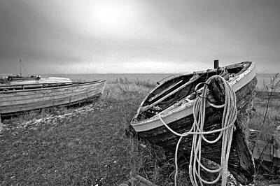 Old Fishing Boat Art Print by Robert Lacy