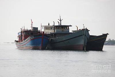Photograph - Old Fishing Boats by Wilko Van de Kamp