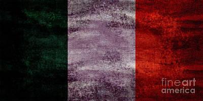 Vintage Eiffel Tower Photograph - Old Flag Of Ireland by Jon Neidert