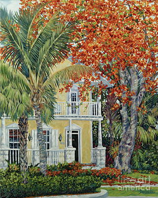 Flamboyant Tree Painting - Old Flame by Danielle  Perry