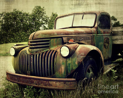 Photograph - Old Flatbed by Perry Webster