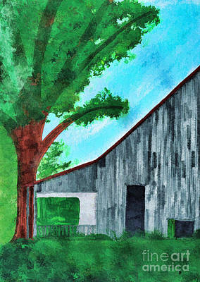 Painting - Old Florida Barn by D Hackett