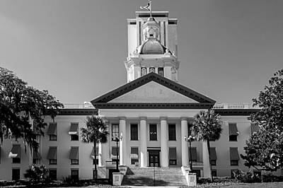 Photograph - Old Florida Capitol In Black And White  by Frank Feliciano