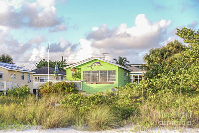 Photograph - Old Florida Cottage On The Beach by Edward Fielding