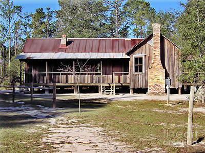 Photograph - Old Florida Cracker Home by D Hackett
