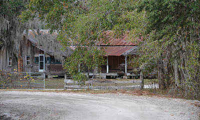 Photograph - Old Florida Homestead - Now Empty by rd Erickson