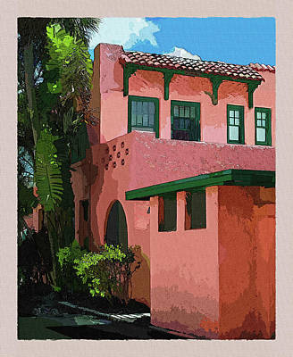 Photograph - Old Florida In Watercolor 1 by Susan Molnar