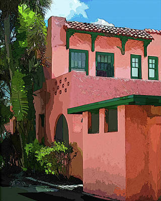 Photograph - Old Florida In Watercolor 2 by Susan Molnar