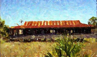 Old Florida Paint Art Print by Michael Morrison