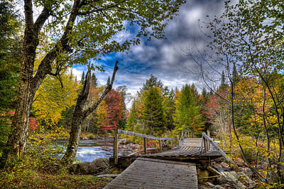 Golf Photograph - Old Footbridge Over The Moose River by David Patterson