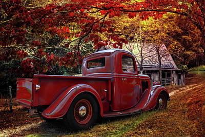 Photograph - Old Ford At The Farm by Debra and Dave Vanderlaan