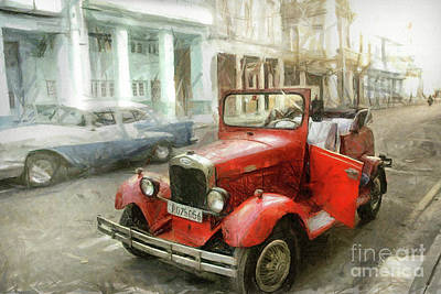 Drawing - Old Ford  by Daliana Pacuraru