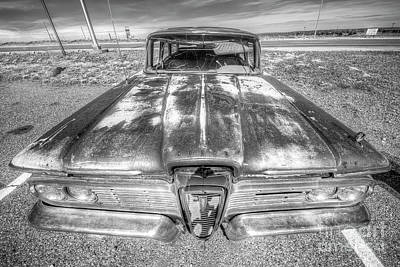 Bath Time Rights Managed Images - Old Ford Edsel on Route 66 Royalty-Free Image by Twenty Two North Photography