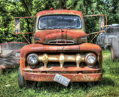 Photograph - Old Ford Farm Truck by J Laughlin