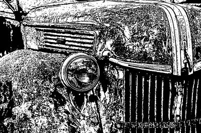 Wall Art - Photograph - Old Ford, Grill 2 by Diana Marcoux