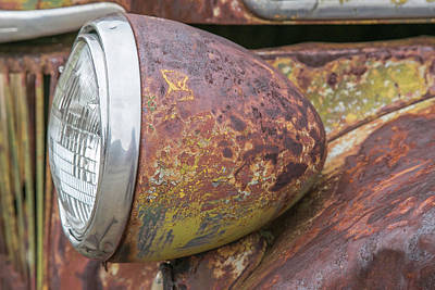 Wall Art - Photograph - Old Ford Head Lamp by Diana Marcoux