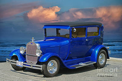 Truck Art Rights Managed Images - Old Ford Model A  Royalty-Free Image by Randy Harris