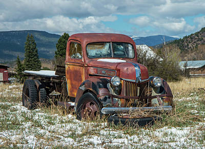 Photograph - Old Ford Pick Up by Steve Whalen
