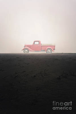 Photograph - Old Ford Pick Up Truck In The Mist by Edward Fielding
