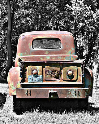 Photograph - Old Ford Pickup by Kathy M Krause