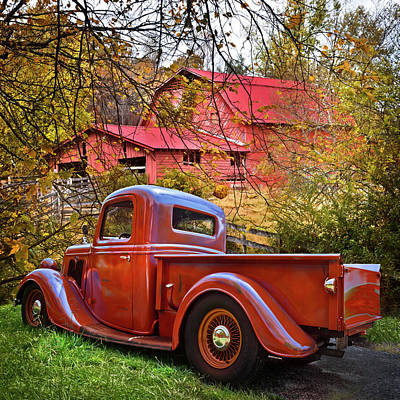 Photograph - Old Ford Pickup Truck At The Barn by Debra and Dave Vanderlaan