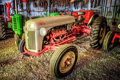 Photograph - Old Ford Tractor by Debra and Dave Vanderlaan