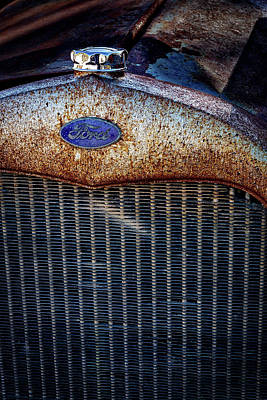 Photograph - Old Ford Tractor Grill by Stuart Litoff