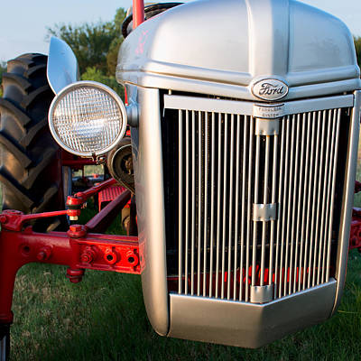 Photograph - Ford Tractor 9n Tractor Front by Rospotte Photography