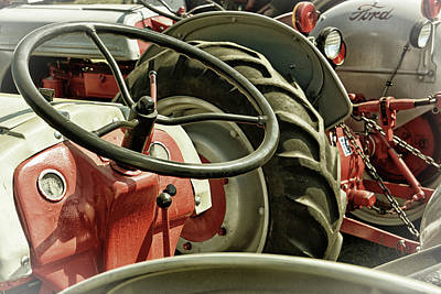 Photograph - Old Ford Tractors by Mike Martin