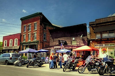 Photograph - Old Forge - Bikes And Brews by David Patterson