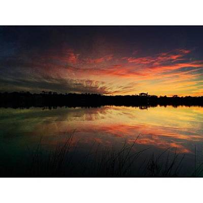 Reflection Wall Art - Photograph - Old Fort Bayou Sunset #landscape by Joan McCool