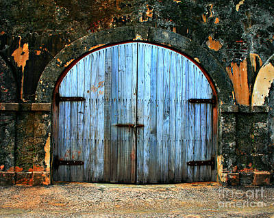 Old Fort Doors Art Print by Perry Webster