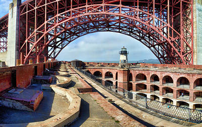 Photograph - Old Fort Point Lighthouse Under The Golden Gate by Patricia Sanders