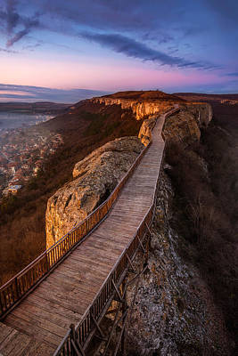 Ovech Fortress Photograph - Old Fortress At Sunset by Evgeni Ivanov