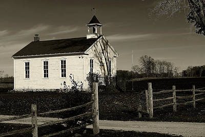Photograph - Old Frankenmuth School House 2 by Scott Hovind