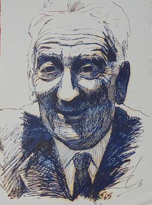 Drawing - Old Fred. by Mike Jeffries