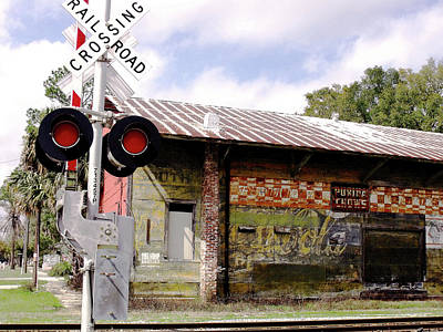 Old Freight Depot Perry Fl. Built In 1910 Art Print